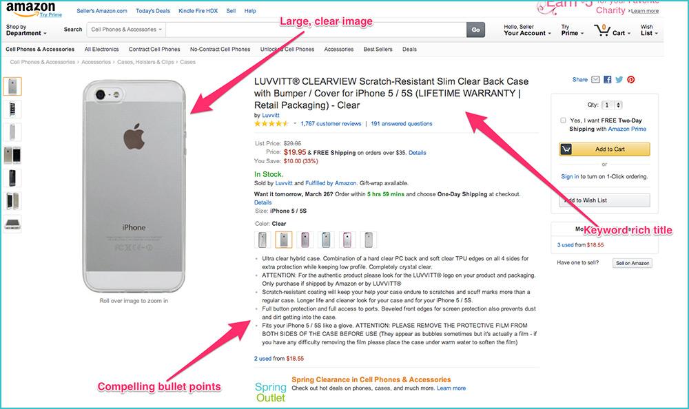 good ecommerce product details